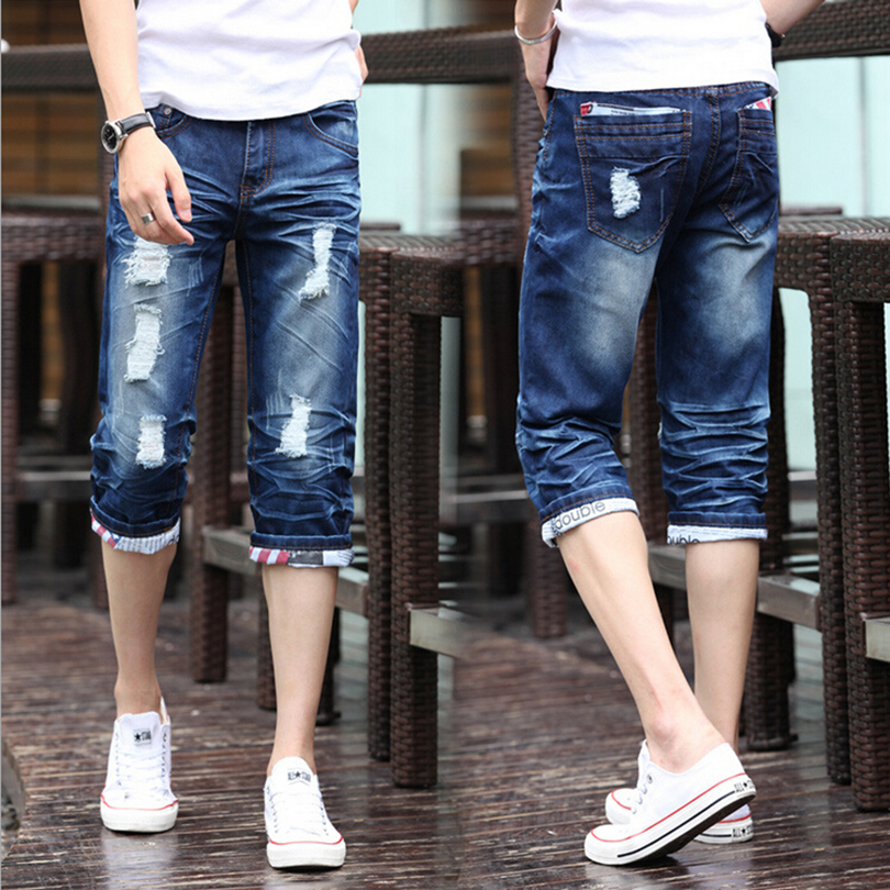 Hot selling fashionabel ripped short jeans for man