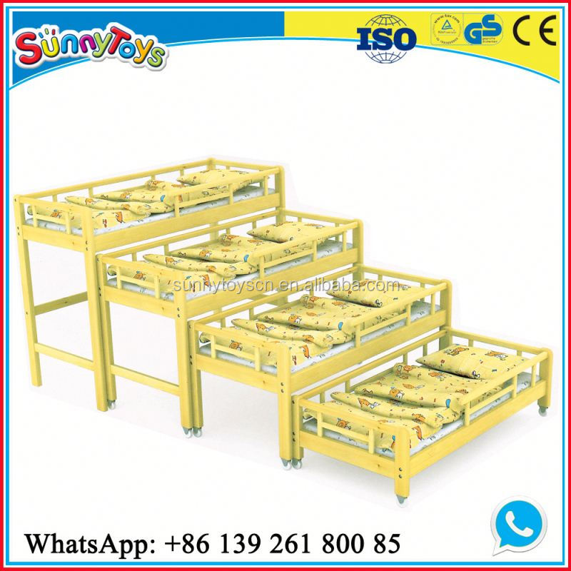 Cartoon picture daycare bed furniture kids single bed