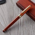 Top quality wooden pen packaging box wood roller pen nice holding box for premium gift