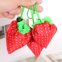 Strawberry folding shopping bag foldable bags