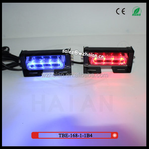TBE-168-1-1B4 8W LED liner type Super Bright red and blue led Car Working Light