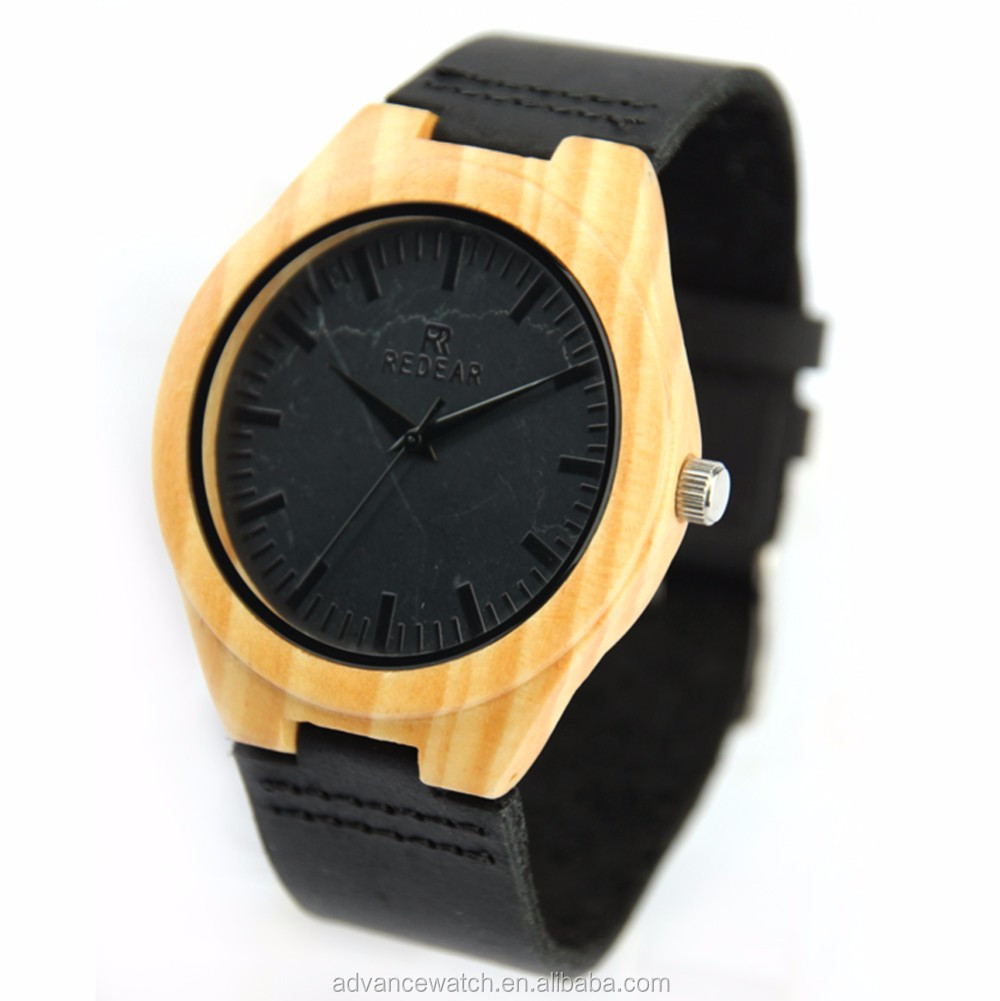 latest stone wood watch for men, wood stone watch face with high quality watch, handmade wood watch with marble face