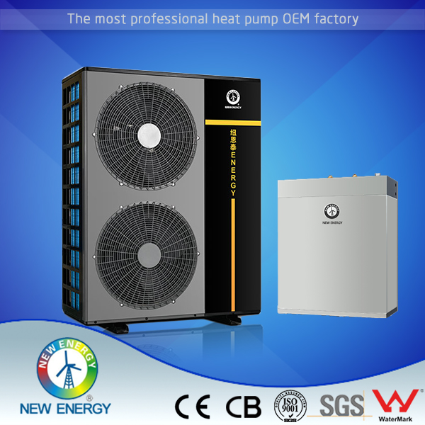 Heaitng Cooling With FanCoil Unit 9kw 20kw Air Source Hot Water Heat Pump Manufacturers