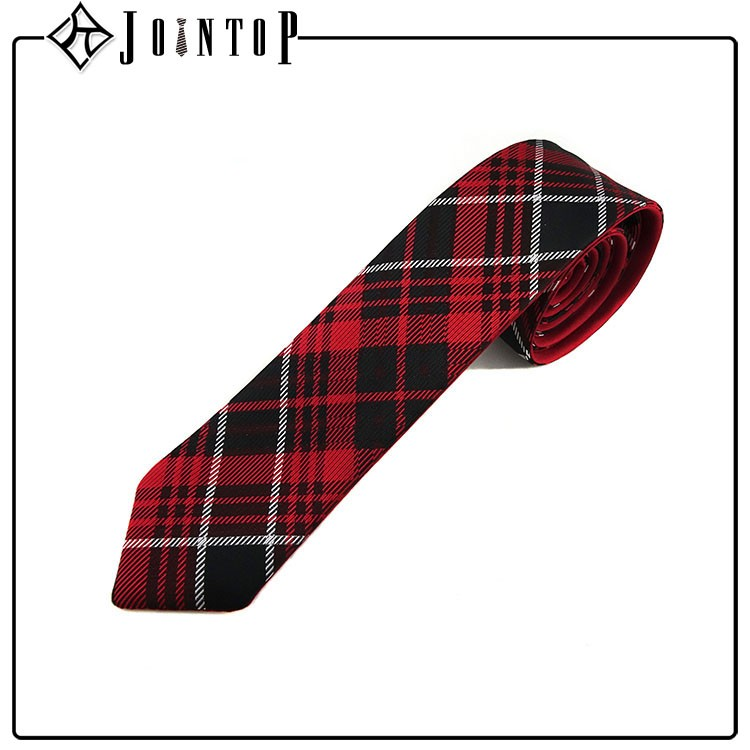 High quality red plaid sex suit tie manufacture