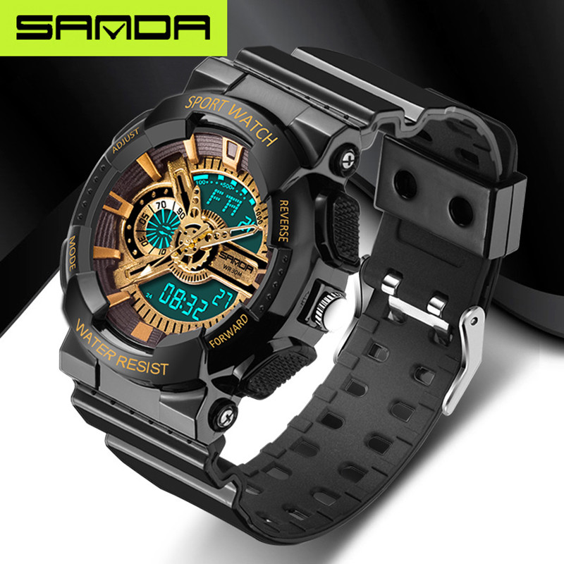 2016 new listing fashion watches men watch waterproof sport military G style S Shock watches men's luury brand