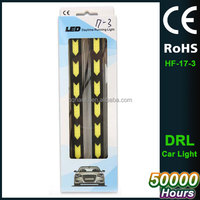 Universal 17cm White Car Auto Flexible LED Daytime Running Light Automobiles COB DayLights Soft DRL Fog Light DC12V