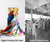digital print No MOQ silk satin custom long silk scarf