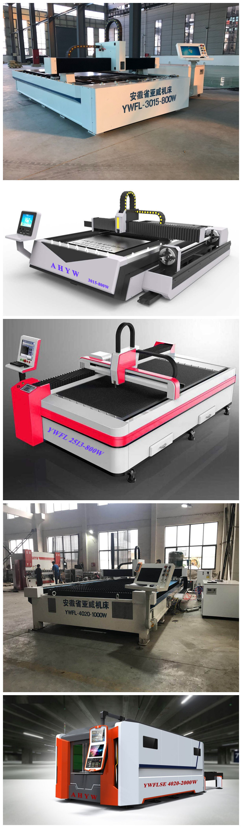 Fiber laser cutting machine with IPG Laser source for metal sheet cutting