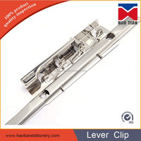 Wholesale paper hanging clip, metal lever clip for binding a4 paper