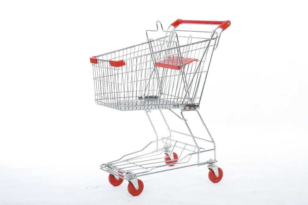 steel material shopping trolley