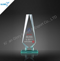 Blank customized Jade Glass Trophy Plaque Awards Souvenir
