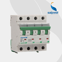 Saipwell High Quality 4 Pole Current Circuit Breaker / MCB With IEC Approved