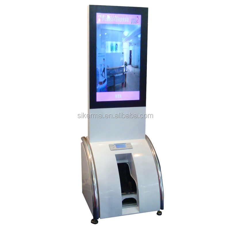 Outdoor lcd monitor usb media player advertising screen display machine for Hotels restaurant with shoe polisher