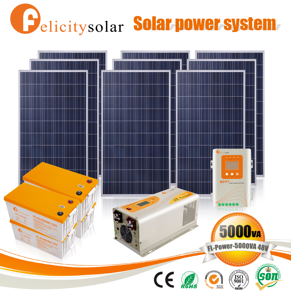 Factory cost complete home 3000w solar electricity generating system