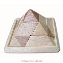 china wholesale brain teaser pyramid wooden puzzle