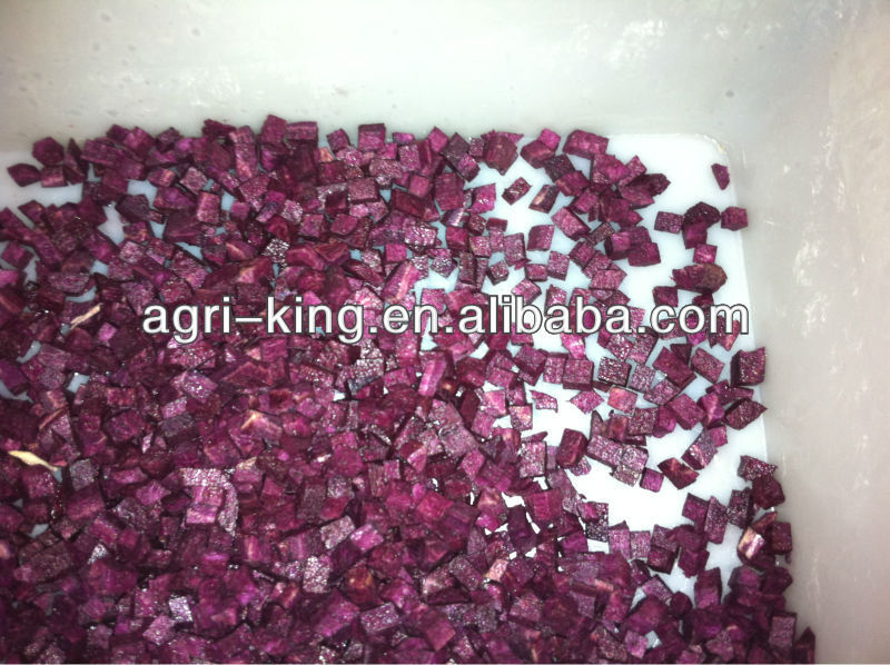 Sell High-quality IQF Sweet Purple Potato Dice