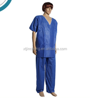 JC3015 disposable nonwoven scrub suits with separate coat and trousers