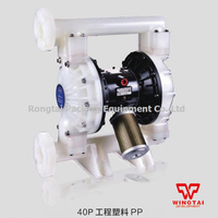 1/2 inch Plastic Double Way Air Operated Diaphragm Pump For Paint