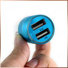 Universal 5V 2.1A In-Car Charger Dual Port USB Car Charger for iPad Air for iPhone