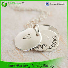 Personalised fancy secret message necklace