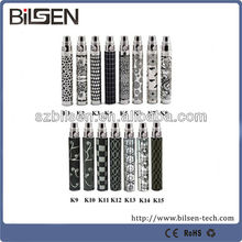 colorful ecig Etched ego K battery Embossed ego battery 650/900/1100mah