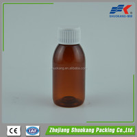 100ml Amber PET Top Quality Recycled Plastic Syrup Bottle