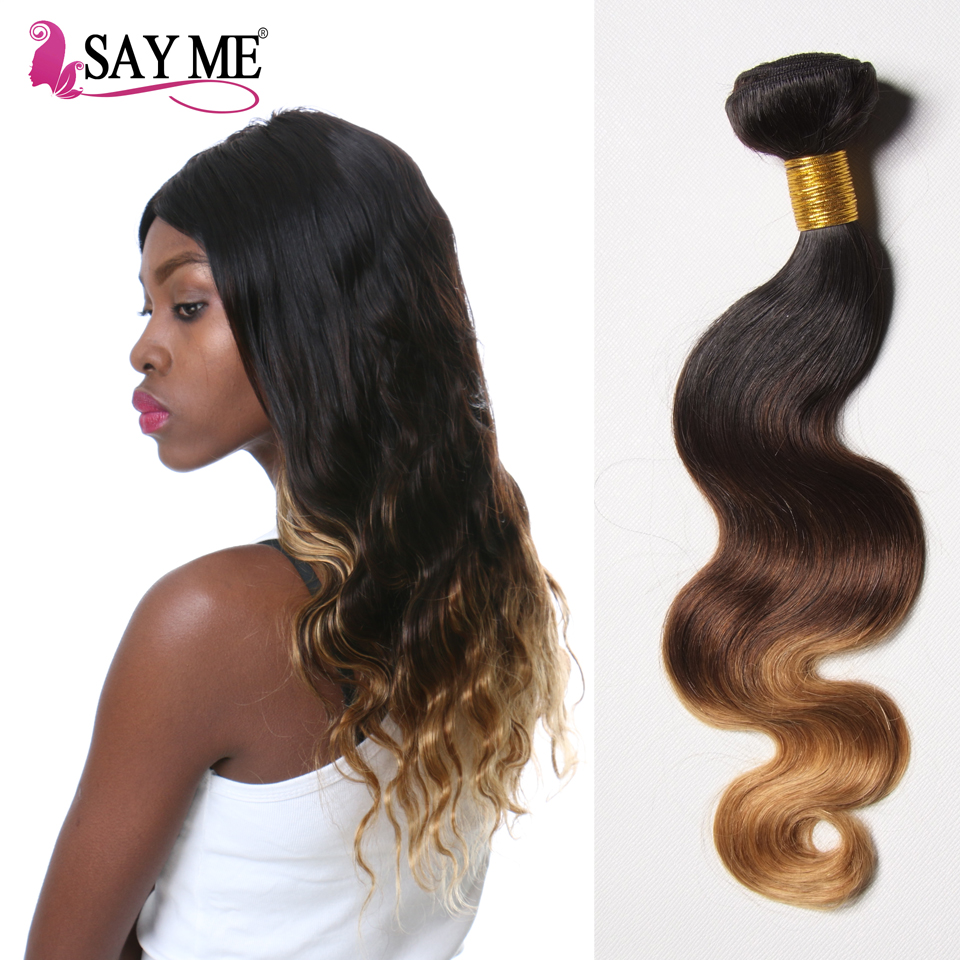 Factory Outlet Ombre 1B 4 27 Body Wave Human Hair Peruvian Hair Extention Women