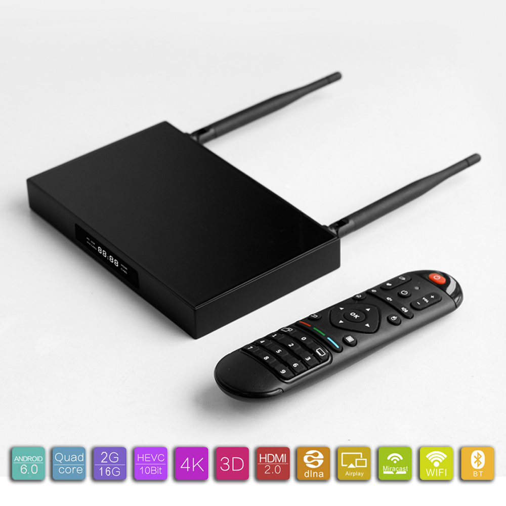 2016 newest Amlogic S905X with Android 6.0 Marshmallow m3 smart tv box android 4.0