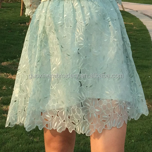 2015 embroidery african organza lace fabric for women dress/garment