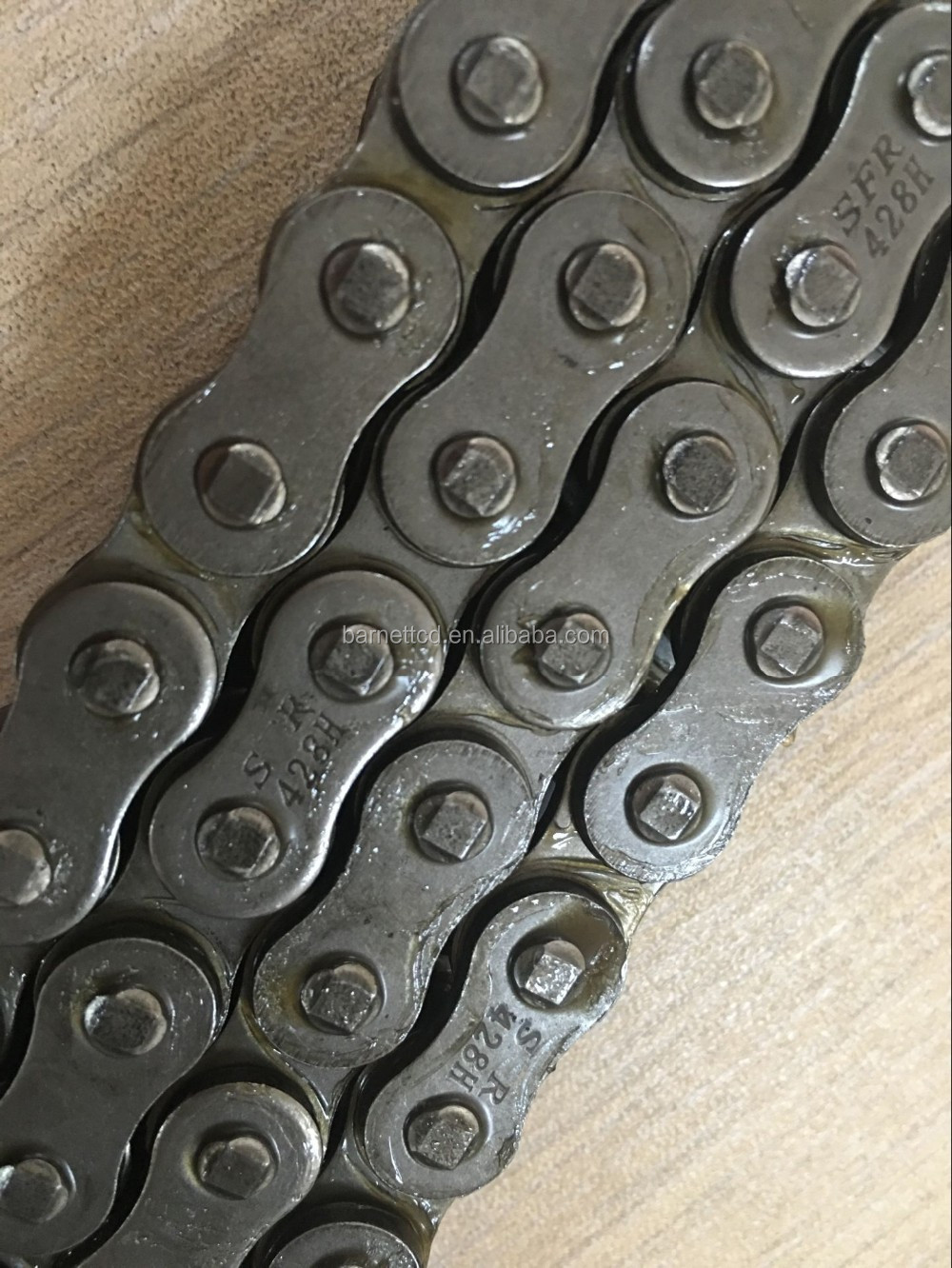 428H 118L Stainless Steel Motorcycle Driving Chain and sprocket