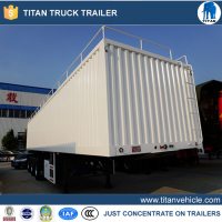Agricultural Semi Trailer Grain Transport In
