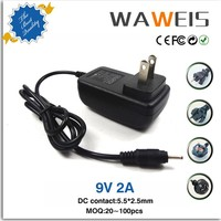 AC adapter output 9v 2a for Tablet PC 2.5mm Charging port for Aoson M19,PIPO M2,M3, M8,M8 3G Tablets