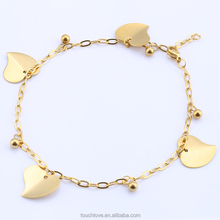 Hot selling stainless steel anklets women jewelry with abundant in stock