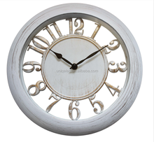 12'' white wall clock plastic promotional decor clock