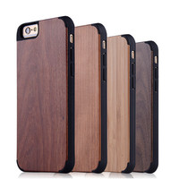 PC wood newest high quality customize unfinished wood case cover for iphone 6s