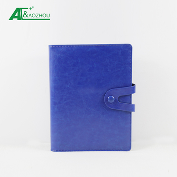 Hot sale A5 refillable  leather composition cover with custom logo engraved