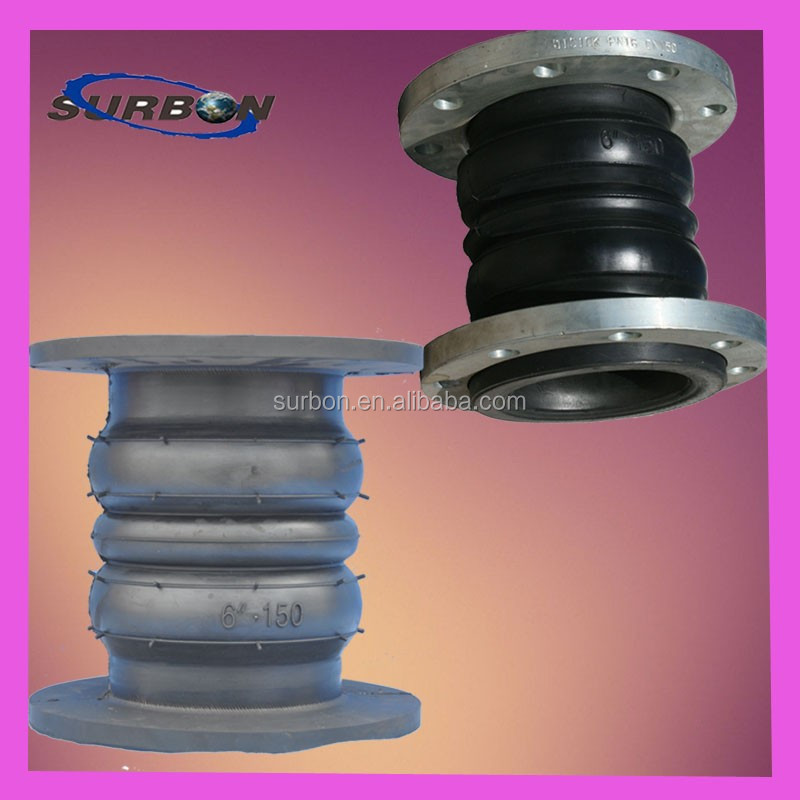 high quality double sphere expansion joint rubber bellow
