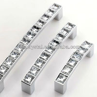 Factory Supply Clear Crystal Handle Pulls in Bulk