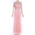 summer sleeveless pink long dress skin friendly casual women clothing dress