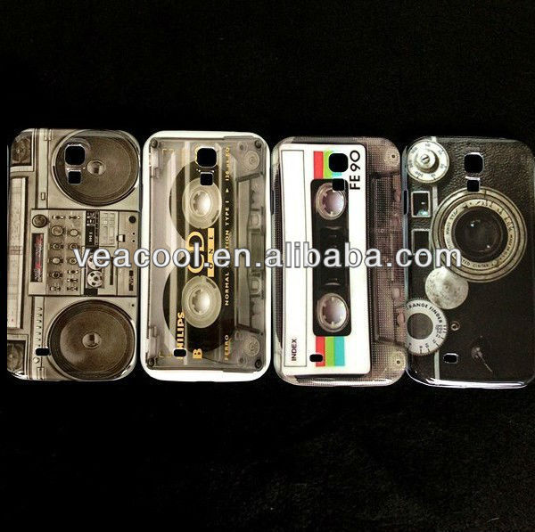 Cassette Tape Plastic Hard Back Phone Case Cover Skin For Samsung Galaxy S4 SIV i9500