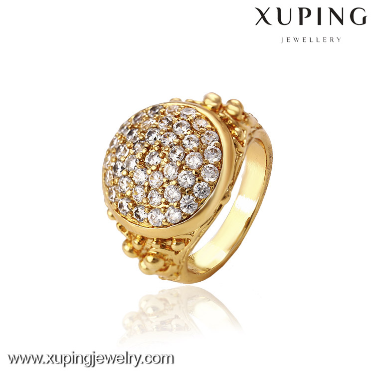 12741- Xuping Jewelry Fashion Elegant 18K Gold Plated Man Ring