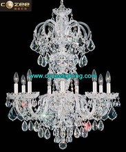 Bohemia Crystal Prisms Chandelier Cristal Lamps Hanging Light Pendant Lighting Modern Chandeliers CZ3013/9