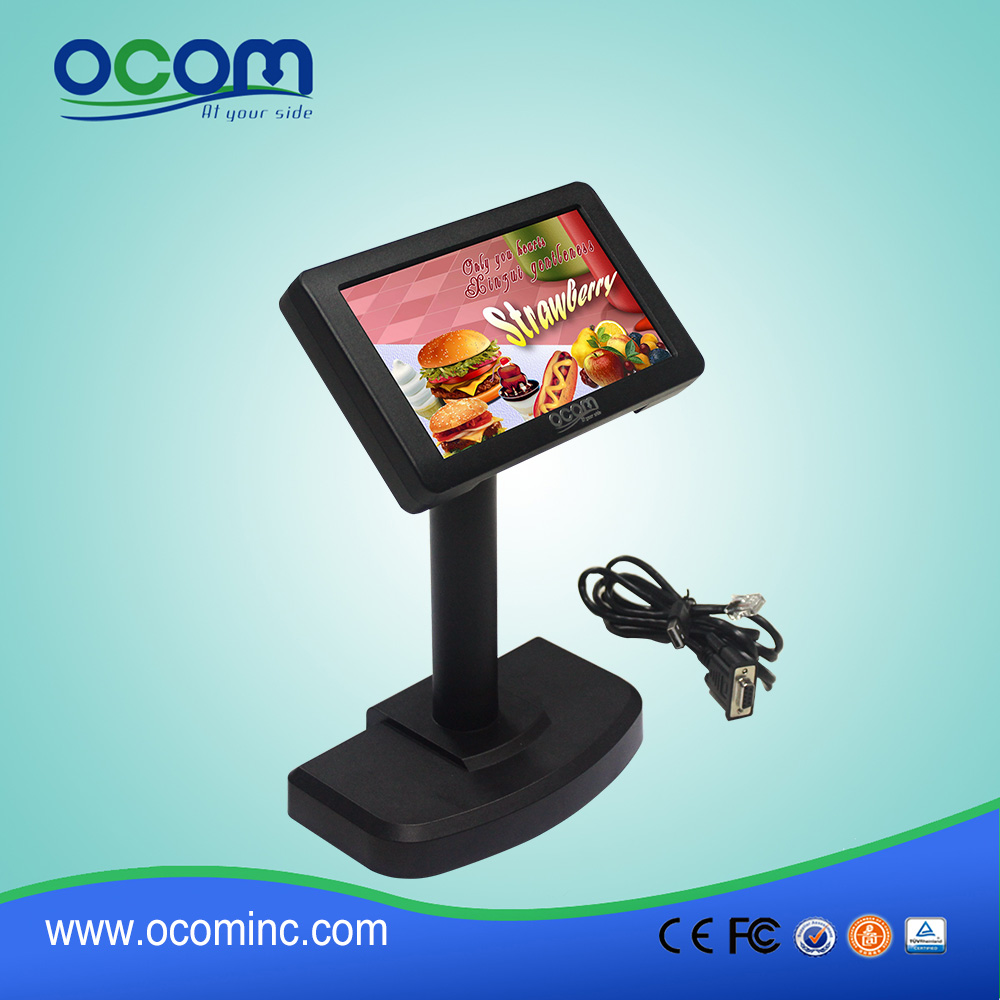 Alphanumeric POS LCD Pole Customer Display for Fast Food Store