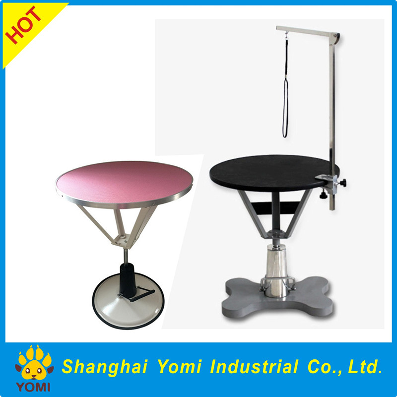 Yomi new design hydraulic round dog grooming table pet product