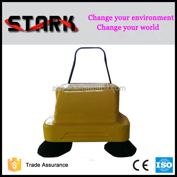 Dual brushes Small robot electric street sweeper for floor cleaning