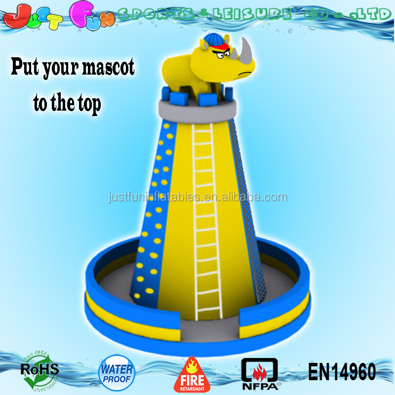 advertising mascot adult inflatable mobile rock climbing wall customized
