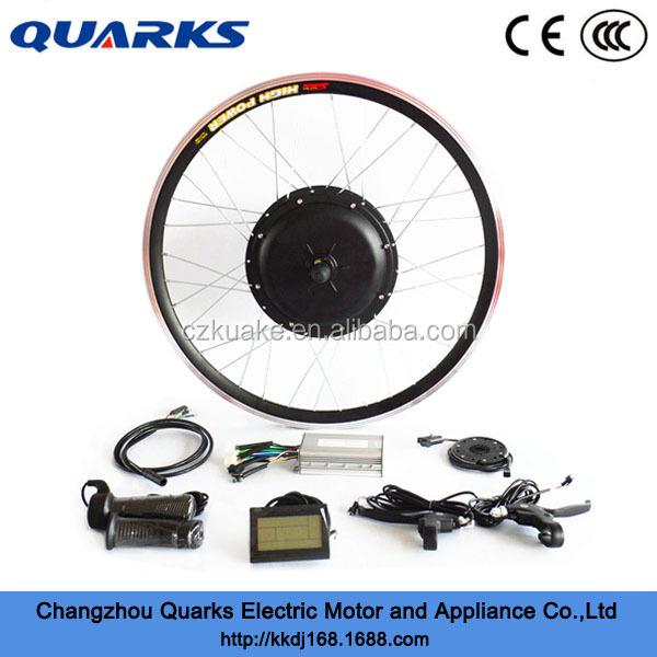 Front 48v 500w direct drive wheel hub motor ebike kit diy for 500w hub motor kit
