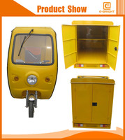high speed 500w electric garbage cleaning tricycle for passenger