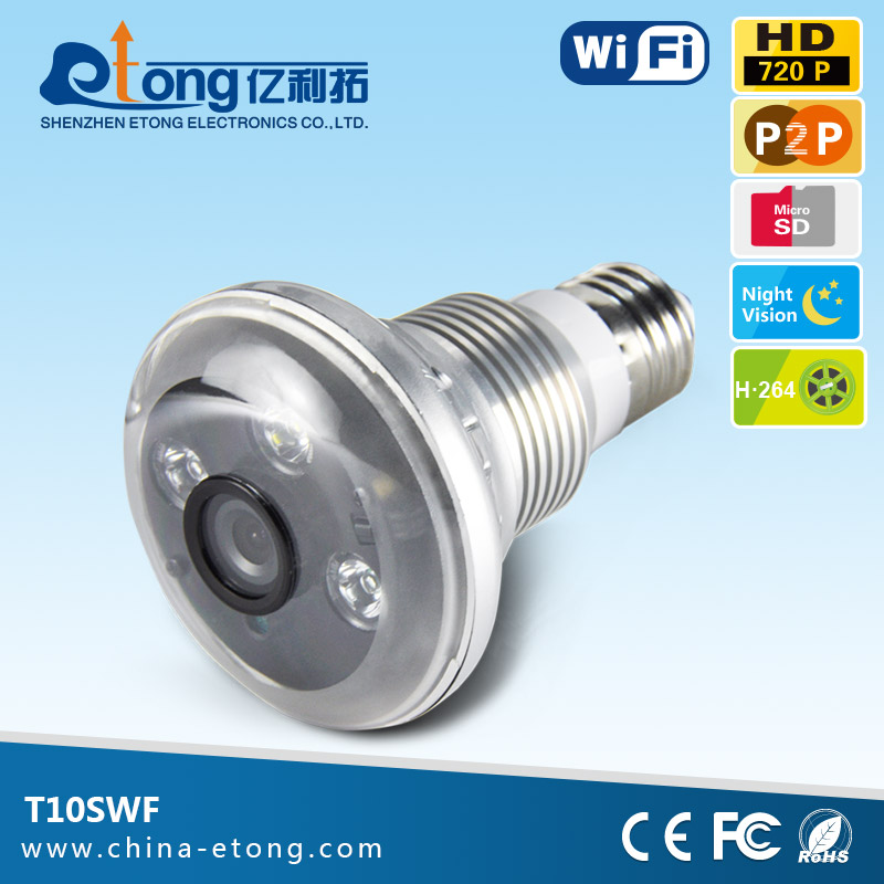 Top <strong>10</strong> micro cctv camera wifi hidden camera light <strong>bulb</strong> with 32G sd card storage