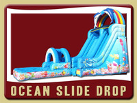 ocean slide drop inflatable slide, giant inflatable slip n slide
